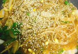아삭아삭 콩나물잡채 만들기!