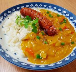 간단 한그릇요리 - 양파 소시지 카레