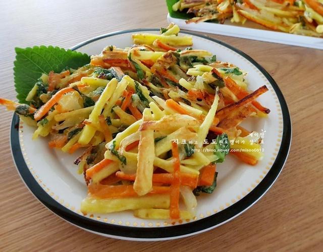 고구마야채튀김