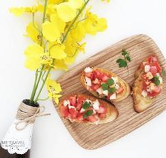 간단한 간식요리, 브런치로 좋아요. '부르스게타' 레시피!