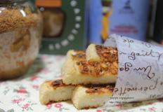 코코넛 향 가득한 초간단 마늘빵 만들기.