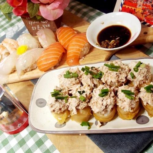 #묵은지참치초밥과 생선초밥만들기 #생선회를 이용한 초밥만들기