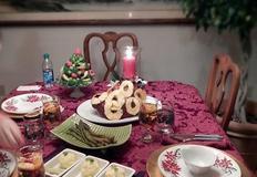 크리스마스 간단하고 조촐한 미국식 디너 상차림