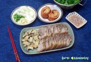 쫀득하고 부드러운 돼지수육/돼지수육 맛있게 삶기