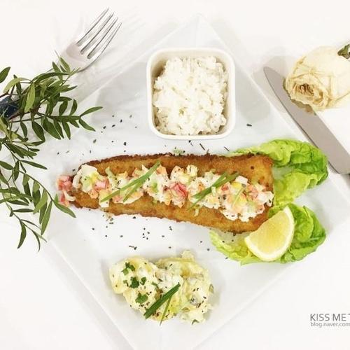 냉동 생선까스로 근사하게 즐기는 '생선(대구) 스테이크' !