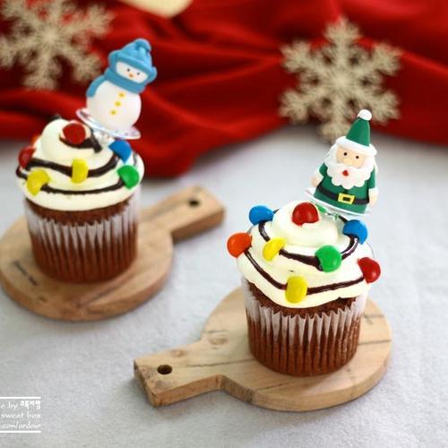 크리스마스 라이트 머핀 만들기 :: 크리스마스 베이킹