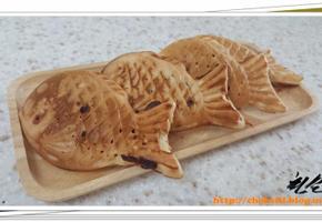엄마표 홈메이드 겨울 간식 !! - 핫케이크 가루와 팥빙수팥로 << 팥이 가득 홈메이드 붕어빵 >> 굽기~