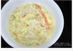 (집에서 즐기는 술안주) 게살스프 / 계란국 - 게맛살로 초간단 게살스프 만들기