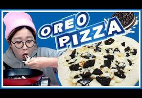 오레오 쿠키 피자 / 또띠아 피자 / 집에서 피자 만들기