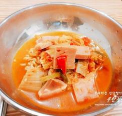 사골김치찌개 만들기 사골육수 사골곰탕으로 스팸 김치찌개 만드는 방법