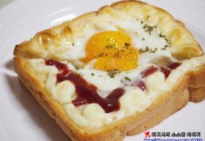 브런치 겸 아이간식 오븐에 구운 계란토스트