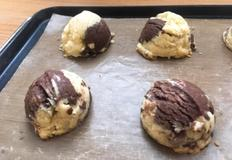 바닐라 초코 스쿱 쿠키 만들기 : 달콤한 아이스크림 모양 쿠키만들기!
