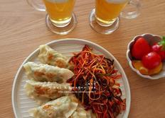 파채 비빔만두 - 야식만들기