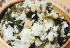 밥해먹기. 미역연근밥.