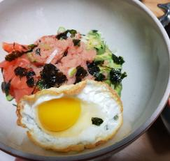 아보카도 명란 연어 덮밥