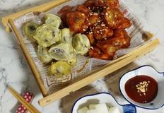 순대튀김(후라이와 강정 두가지로 버젼으로 골라먹어요)