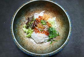 싱싱한 포장 회로 푸짐한 회덮밥 만들기