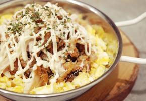 먹다남은 치킨으로 치킨마요덮밥 간단하게 만들기