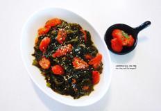 건강 미역 요리 방울토마토 생미역 식초 무침 만드는 법 아이 반찬 메뉴