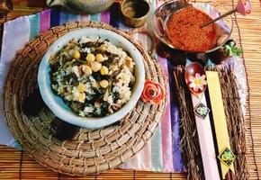 병아리콩시래기 된장밥/ 섬유질과 미네랄 칼슘등의영양소가 풍부한 겨울철 별미예요~~^^