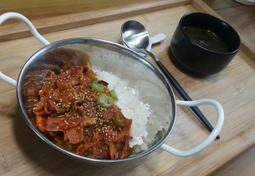 베이컨 김치덮밥~*