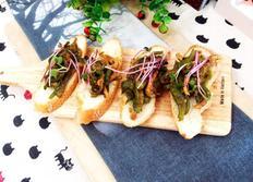 #고추잡채만들기 #고추잡채는 꽃빵과 먹는다는 편견은 버려!! 또띠아와 바게트에 올려서 먹는 색다른 고추잡채!!