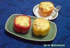 눈과 입이 즐거운 맛있는 한끼/삼색 파프리카 계란밥구이