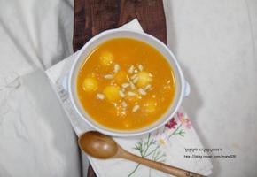 은은한 시나몬향이 매력적인 초간단 호박죽 만드는법.