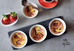 딸기그라탕만들기 신선한 딸기를 오븐에 구워 딸기그라탱