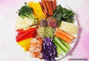 당뇨에 좋을법한 야채 월남쌈 재료를 푸짐하게 싸먹자
