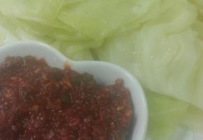 만능쌈장과 양배추쌈 집된장으로 만든 담백한맛~~^^