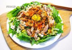 고등어와 파를 넣은 상큼고소 김치 건강 샐러드 - 집에서 간단한 술안주 & 반찬 만들기