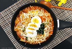 납작한 떡국떡으로 만드는, '만두 국물라볶이' !!