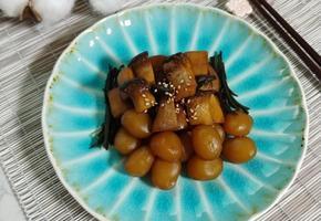 쫄깃쫄깃 곤약 새송이버섯조림(간단간단 밑반찬)