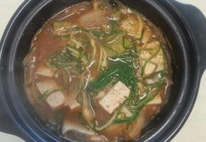향긋한 달래 된장찌개  맛있게 끓여보세요~~^^