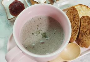 양송이스프(우유만 넣어 간단하게 만들기)