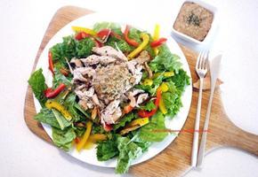 맛있는 건강 다이어트 식단 - 닭가슴살 야채 샐러드 레시피 + 견과류 소스 드레싱 만들기(만드는법) 추천!