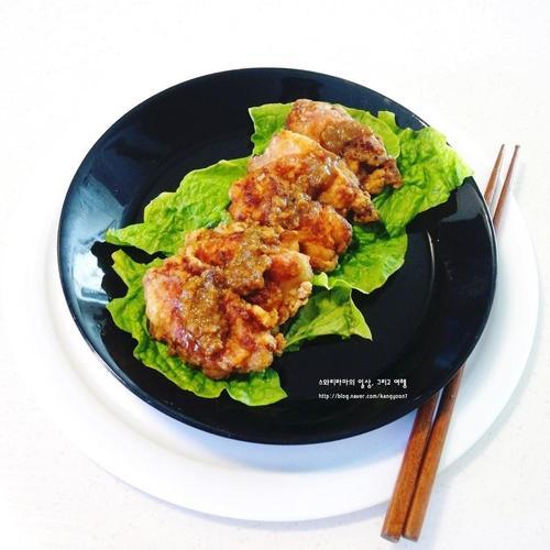 집에서 매콤달콤 순살 마늘 닭튀김 만들기 레시피 - 생강가루 활용 요리