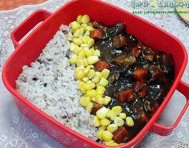 고구마짜장밥