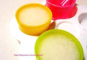 간편한 6배 밥죽♥ 초기 이유식 1단계 쌀미음 만들기 (밥 이용 & 수저계량)