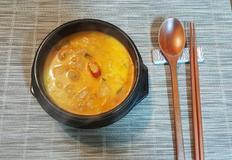 서리태로 만든 콩비지 찌개