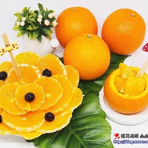 오렌지 예쁘게 자르기 혹은 오렌지깍기