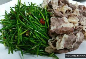 봄철 영양샐러드~~차돌백이 영양부추 무침