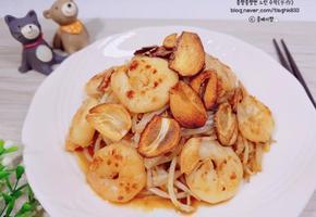 새우 숙주볶음(새우 요리, 숙주 요리,초간단 밥반찬, 술안주)