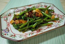 태국식 공심채 볶음 만들기, 초간단 황금레시피