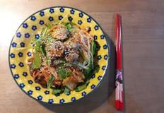 조개비빔국수 봄나물야채 깨쟁이요리