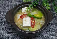 냉장고속 있는 재료들로  된장찌개 끓이기~*