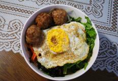 전주 떡갈비완자로 떡갈비 비빔밥 만들기