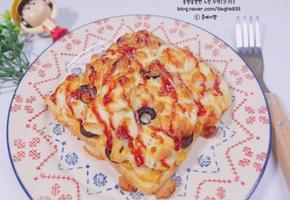 피자 토스트 (식빵요리, 간단한 간식,에어프라이어 요리)