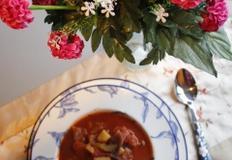 건강한 아침을 여는 양배추토마토스프